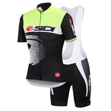 2015 Castelli Sidi Cielo Aerorace Cycling Jersey Maillot Ciclismo Short Sleeve and Cycling bib Shorts Cycling Kits Strap  cycle jerseys Ciclismo bicic