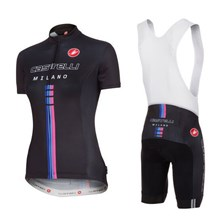 2014 Woman Castelli 02 Cycling Jersey Maillot Ciclismo Short Sleeve and Cycling bib Shorts Cycling Kits Strap  cycle jerseys Ciclismo bicicletas maillot ciclismo
