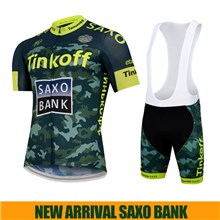 2015 TINKOFF SAXO BANK Fluo Yellow Cycling Jersey Maillot Ciclismo Short Sleeve and Cycling bib Shorts Cycling Kits Strap  cycle jerseys Ciclismo bici