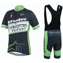 2015 Monster Cycling Jersey Maillot Ciclismo Short Sleeve and Cycling bib Shorts Cycling Kits Strap  cycle jerseys Ciclismo bicicletas maillot ciclismo
