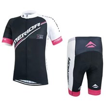 2015 Merida Black Pink Cycling Jersey Short Sleeve Maillot Ciclismo and Cycling Shorts Cycling Kits  cycle jerseys Ciclismo bicicletas maillot ciclismo