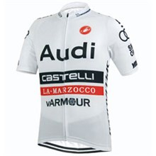 2015 Castelli Audi White Cycling Jersey Ropa Ciclismo Short Sleeve Only Cycling Clothing  cycle jerseys Ciclismo bicicletas maillot ciclismo