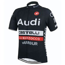 2015 Castelli Audi Black Cycling Jersey Ropa Ciclismo Short Sleeve Only Cycling Clothing  cycle jerseys Ciclismo bicicletas maillot ciclismo