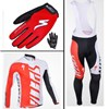 2012 SHANDIAN Thermal Fleece Cycling Long Jersey+bib Pants+Gloves Long Finger