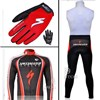 2011 SHANDIAN Thermal Fleece Cycling Long Jersey+bib Pants+Gloves Long Finger