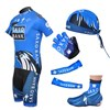 2012 saxobank Cycling Jersey+bib Shorts+Headscarf+Glove+Shoe Covers+Arm sleeve S