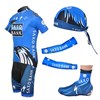 2012 saxobank Cycling Jersey+bibShorts+Headscarf+Arm Sleeves+Shoe Covers S
