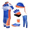2012 rabobank Cycling Jersey+Shorts+Headscarf+Glove+Shoe Covers+Leg Warmers S