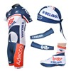 2012 lotto Cycling Jersey+Shorts+Headscarf+Shoe Covers+Arm sleeve S
