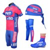 2012 Lampre Cycling Jersey+Shorts+Leg warmer+Shoe Covers+Headscarf S