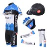2012 garmin blue Cycling Jersey+Shorts+Arm Sleeves+Leg warmer+Cap+Gloves