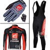 2009 caisse Cycling Long Jersey+bib Pants+Gloves Long Finger