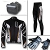 2012 look Thermal Fleece Cycling Long Jersey+Pants+bag+Thermal gloves