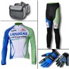 2012 liquigas Thermal Fleece Cycling Long Jersey+Pants+bag+Thermal gloves