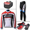 2012 cube Thermal Fleece Cycling Long Jersey+Pants+bag+Thermal gloves