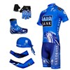 2012 saxobank Cycling Jersey+bibShorts+Headscarf+Glove+Shoe Covers+Arm sleeve S