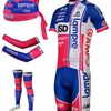 2012 lampre isd Cycling Jersey+bib Shorts+Arm Sleeves+Leg Warmers+Headscarf S