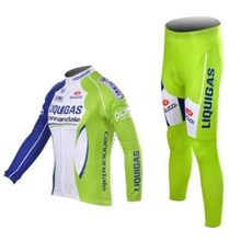 2012 liquigas Cycling Jersey Long Sleeve and Cycling Pants