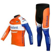 2012 rabobank Cycling Jersey Long Sleeve and Cycling Pants