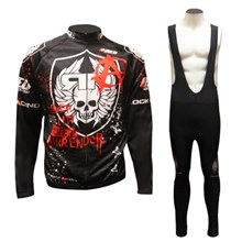 2012 Rock Racing Cycling Jersey Long Sleeve and Cycling bib Pants