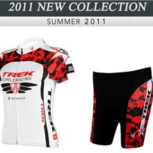2012 ringwise women's trek red white Cycling Jersey Short Sleeve and Cycling Shorts Cycling Kits