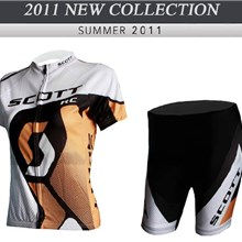 2012 ringwise women's scott yellow white Cycling Jersey Short Sleeve and Cycling Shorts Cycling Kits