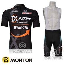 2012 Bianchi Cycling Jersey Short Sleeve and Cycling bib Shorts Cycling Kits Strap