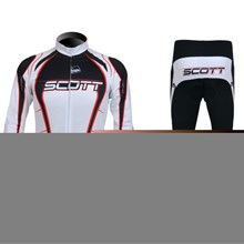 2012 Scott Cycling Jersey Long Sleeve and Cycling Pants Cycling Kits