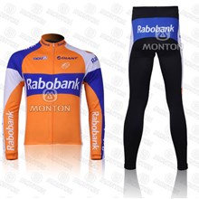 2012 Rabobank Cycling Jersey Long Sleeve and Cycling Pants Cycling Kits