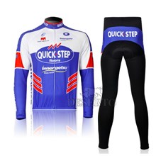2012 Quick Step Cycling Jersey Long Sleeve and Cycling Pants Cycling Kits