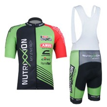 2012 Nutrixxion Cycling Jersey Short Sleeve and Cycling bib Shorts Cycling Kits Strap S