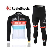 2012 radio shack Thermal Fleece Cycling Jersey Long Sleeve and Cycling Pants S