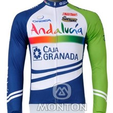 2012 andalucia Thermal Fleece Cycling Jersey Long Sleeve Only Cycling Clothing S