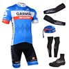 2014 GARMIN Cycling Jersey Maillot Ciclismo Short Sleeve and Cycling bib Shorts Or Shorts and Scarf and Arm Sleeve and  Leg Sleeve and Shoe Cover Tour De France XXS