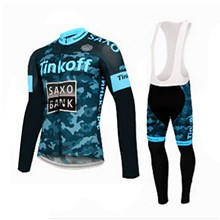 2015 Saxo bank tinkoff Cycling Jersey Long Sleeve and Cycling bib Pants Cycling Kits Strap