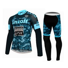 2015 Saxo bank tinkoff Cycling Jersey Long Sleeve and Cycling Pants Cycling Kits