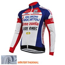 2015 ANDRONI GIOCATTOLI Thermal Fleece Cycling Jersey Ropa Ciclismo Winter Long Sleeve Only Cycling Clothing cycle jerseys Ropa Ciclismo bicicletas maillot ciclismo XXS