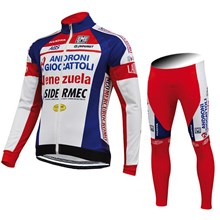 2015 ANDRONI GIOCATTOLI Cycling Jersey Long Sleeve and Cycling Pants Cycling Kits XXS