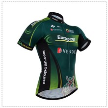 2015 Europcar Cycling Jersey Ropa Ciclismo Short Sleeve Only Cycling Clothing cycle jerseys Ciclismo bicicletas maillot ciclismo XXS