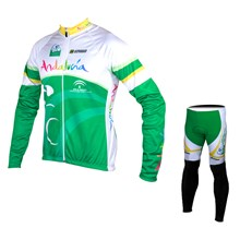 2015 Andalucia Cycling Jersey Long Sleeve and Cycling Pants Cycling Kits XXS