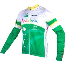 2015 Andalucia Cycling Jersey Long Sleeve Only Cycling Clothing cycle jerseys Ropa Ciclismo bicicletas maillot ciclismo XXS
