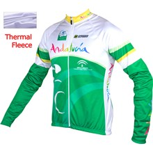 2015 Andalucia Thermal Fleece Cycling Jersey Ropa Ciclismo Winter Long Sleeve Only Cycling Clothing cycle jerseys Ropa Ciclismo bicicletas maillot ciclismo XXS