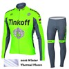 2016 TINKOFF SAXO BANK Fluo Green Thermal Fleece Cycling Jersey Ropa Ciclismo Winter Long Sleeve and Cycling Pants ropa ciclismo thermal ciclismo jersey thermal