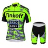2015 Tinkoff Saxo Bank Fluo Green Cycling Jersey Short Sleeve Maillot Ciclismo and Cycling Shorts Cycling Kits cycle jerseys Ciclismo bicicletas