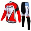 2017 Tinkoff Cycling Jersey Long Sleeve and Cycling Pants Cycling Kits XXS