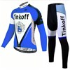 2017 Tinkoff blue Cycling Jersey Long Sleeve and Cycling Pants Cycling Kits XXS