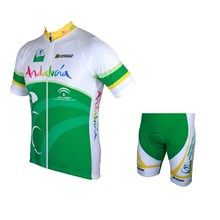 2015 ANDALUCIA Cycling Jersey Short Sleeve Maillot Ciclismo and Cycling Shorts Cycling Kits cycle jerseys Ciclismo bicicletas XXS