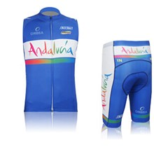 2015 ANDALUCIA Cycling Vest Maillot Ciclismo Sleeveless and Cycling Shorts Cycling Kits cycle jerseys Ciclismo bicicletas XXS