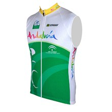 2015 ANDALUCIA Cycling Vest Jersey Sleeveless Ropa Ciclismo Only Cycling Clothing cycle jerseys Ciclismo bicicletas maillot ciclismo cycle jerseys XXS