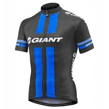 2017 Team Giant Black-Blue Cycling Jersey Ropa Ciclismo Short Sleeve Only Cycling Clothing cycle jerseys Ciclismo bicicletas maillot ciclismo XXS